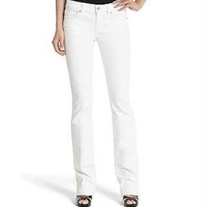WHBM Blanc Essential White Boot Cut Jeans 6 Short